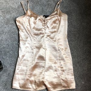 NWT Forever 21 Gold Romper
